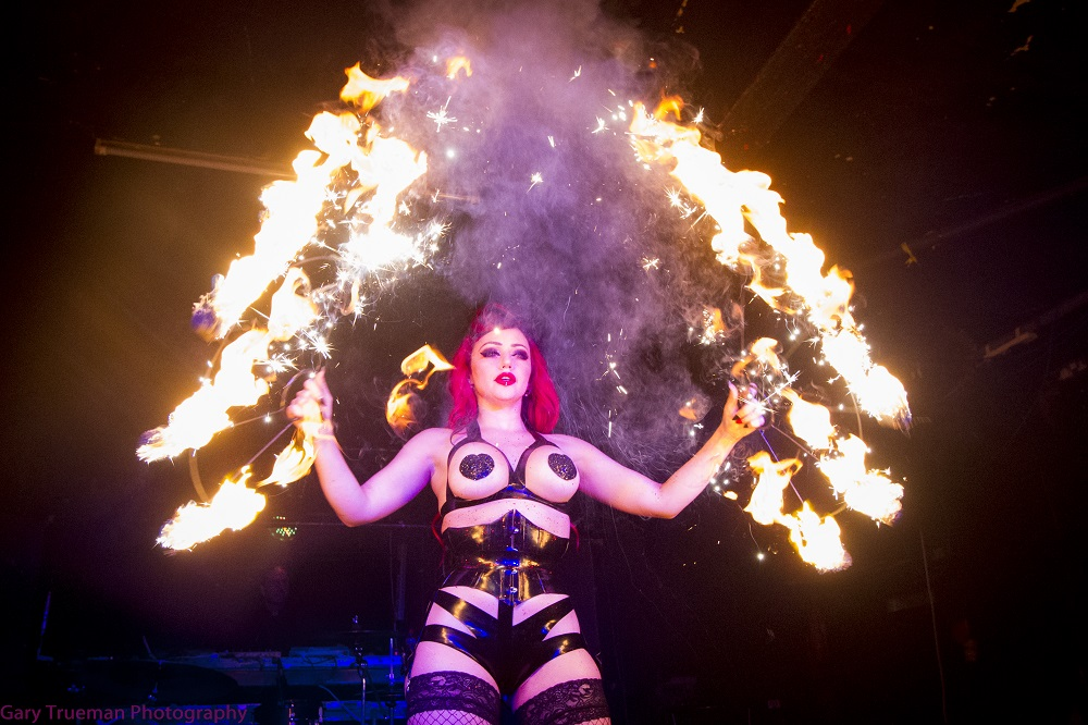 Dani Divine lighting up Club Antichrist