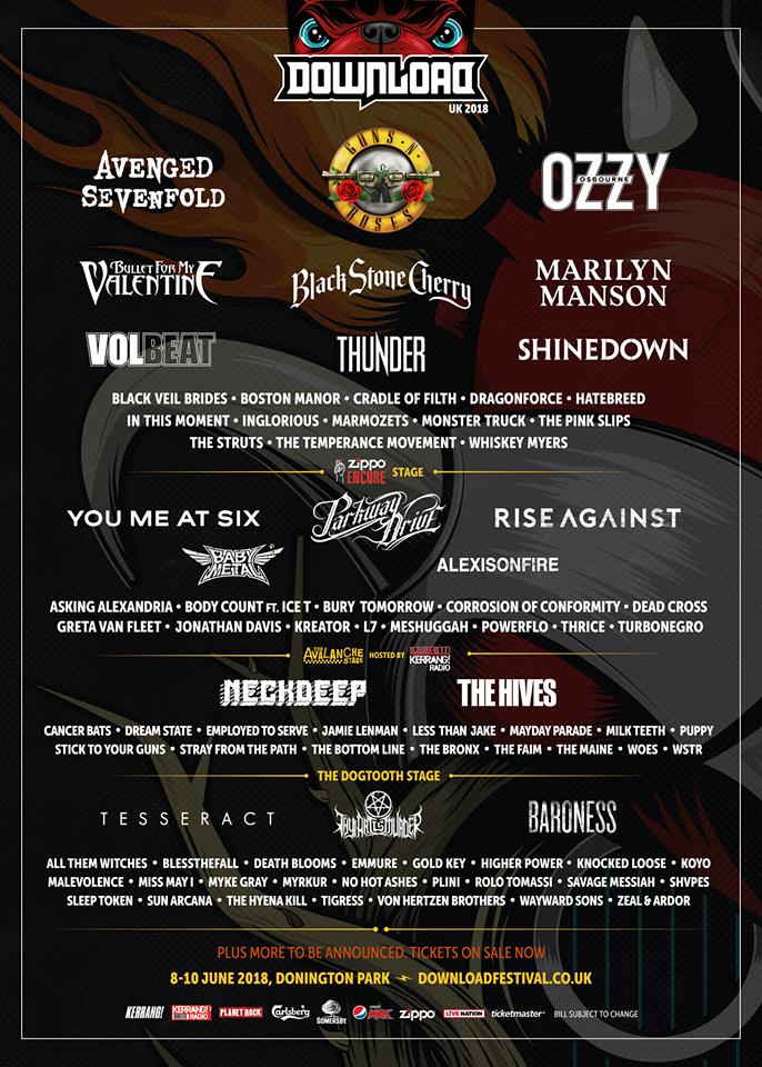News:  65 More Acts Announced For Download 2018