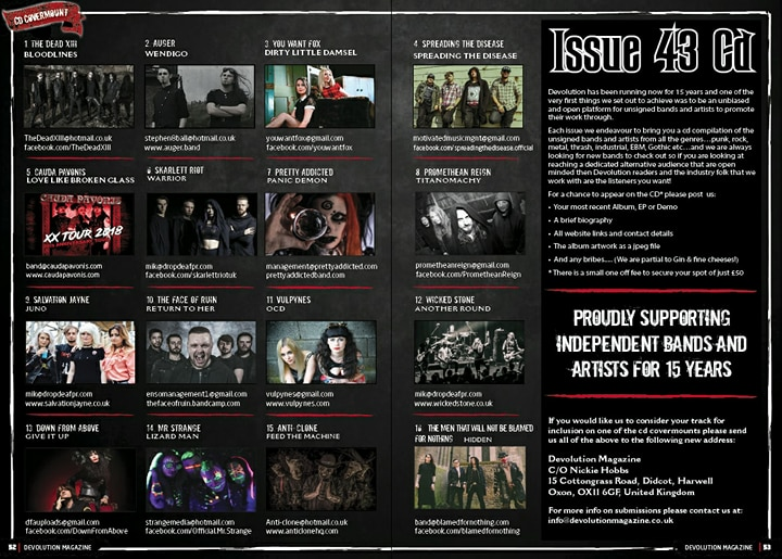 News: Bands Wanted For Devolution Magazine Issue 44 CD Covermount