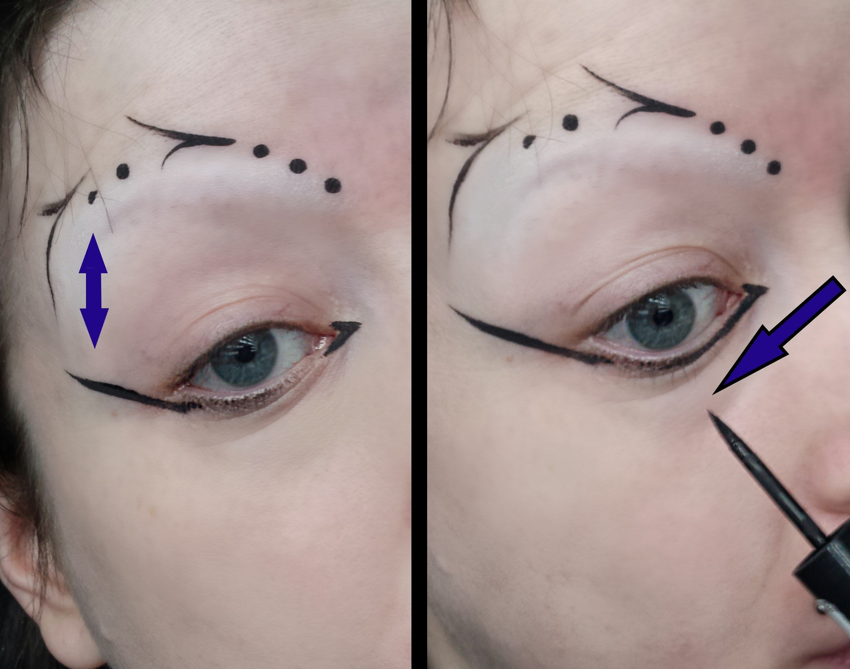 Step By Step Guide To All Over Liquid Eyeliner By Alice Bizarre