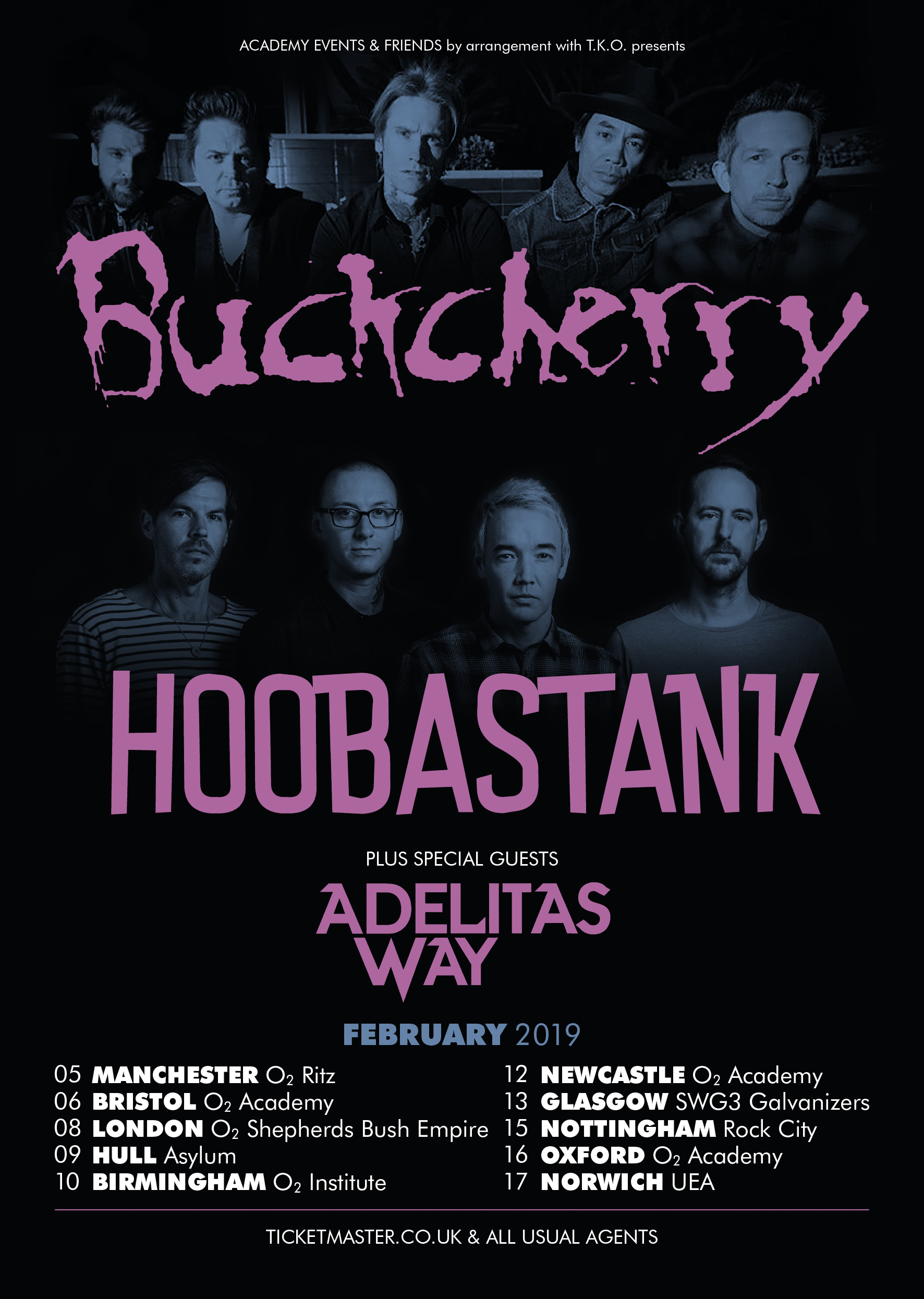 News: Buckcherry and Hoobastank Announce 2019 UK Tour