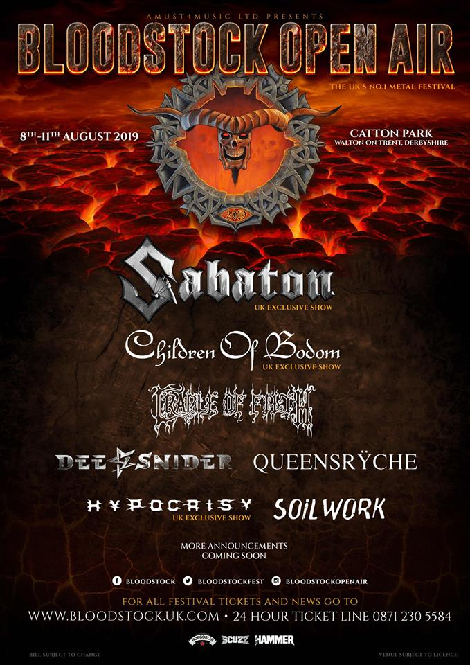 NEWS: Bloodstock Festival announce six bands as an early Halloween treat!