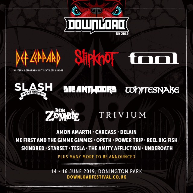 News: Def Leppard, Slipknot and Tool to headline Download 2019