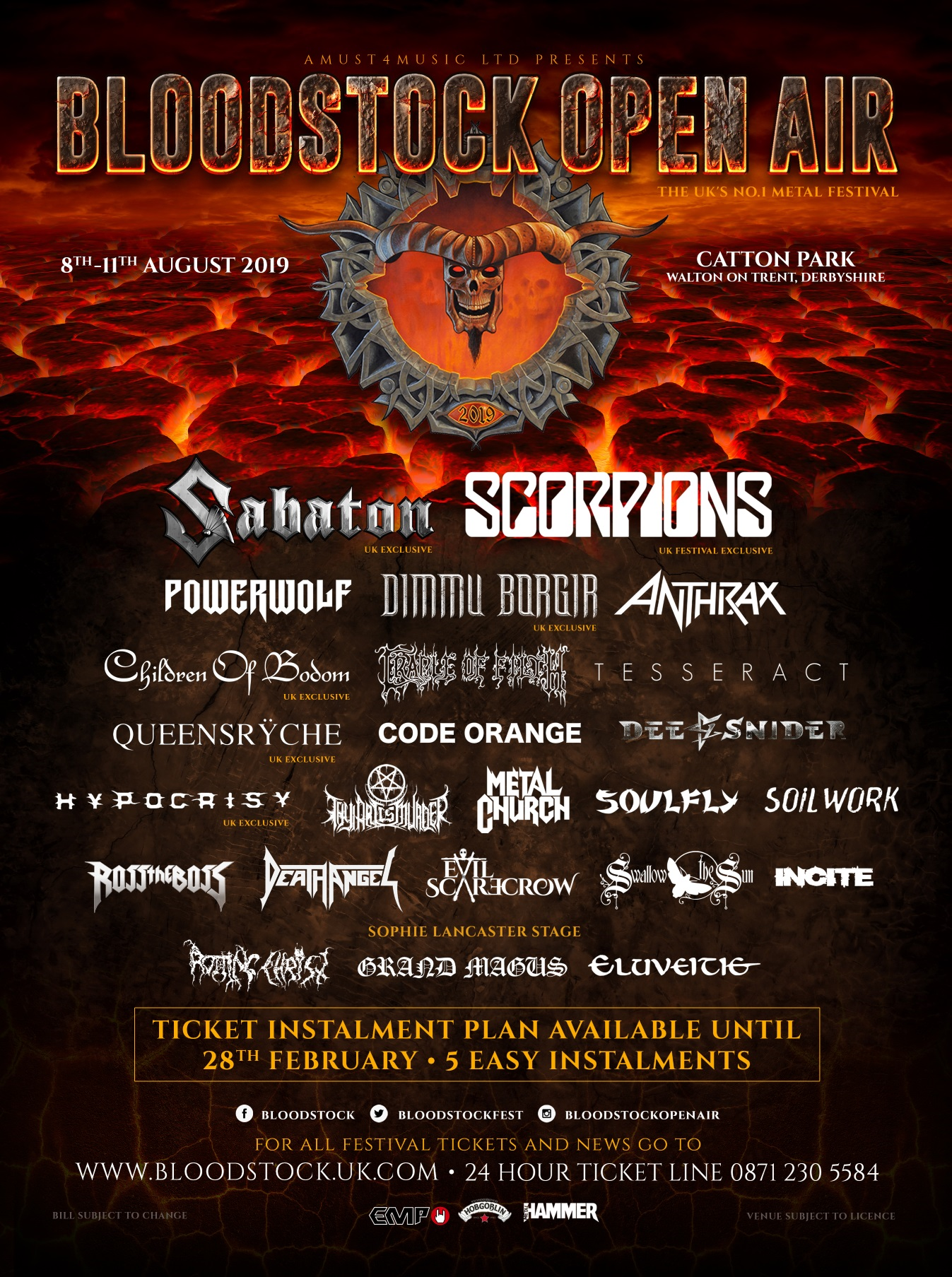 News: Bloodstock Announces Four More Bands To Kick Off 2019