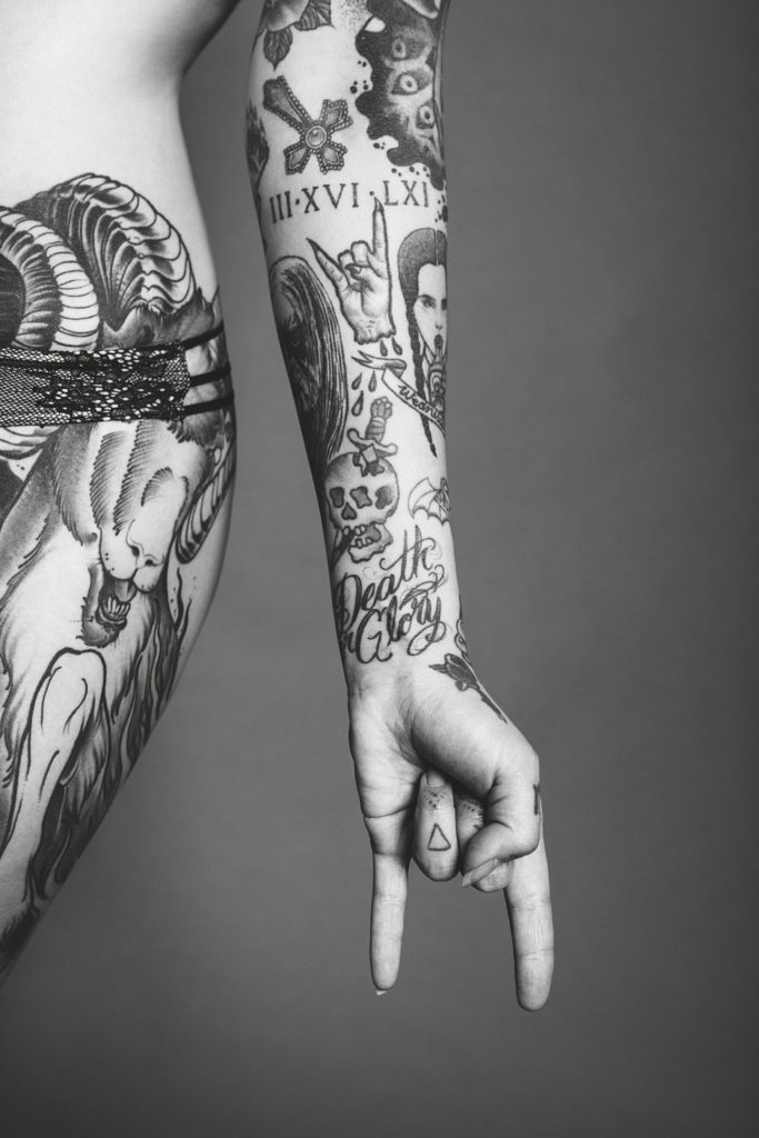 Tattoo artist Alisha Gory photographed by Christian Saint in New York