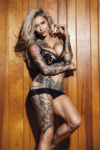 Tattoo model Sarah Giampapa photographed by Christian Saint in New York