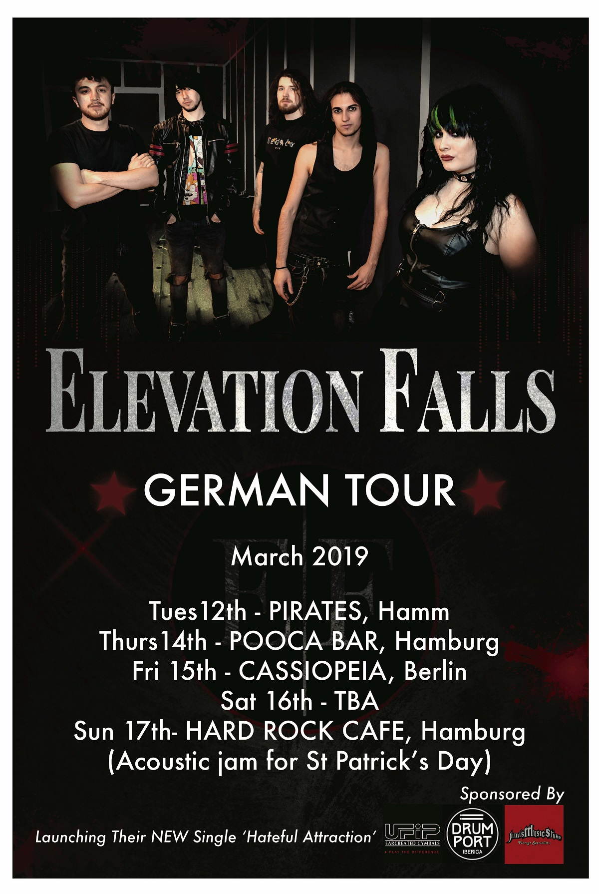 News: Irish Rockers ElevationFalls Announce German Dates
