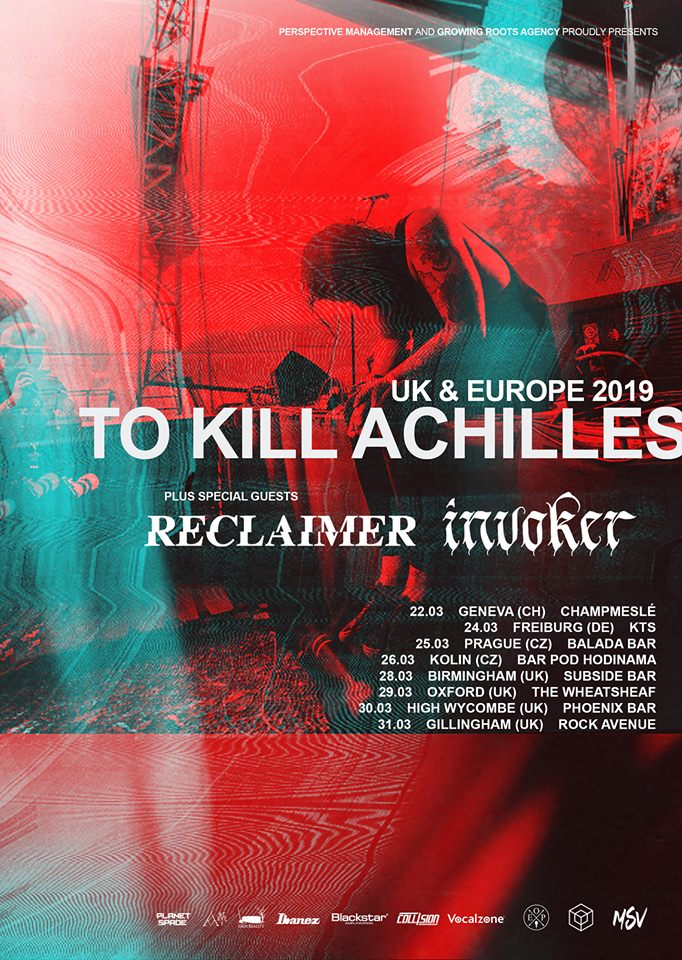 News: Invoker To Tour With To Kill Achilles and Reclaimer