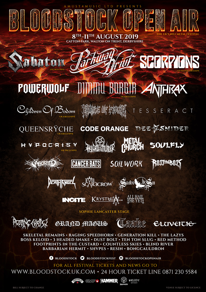 News: Eight More Bands Added To Bloodstock 2019