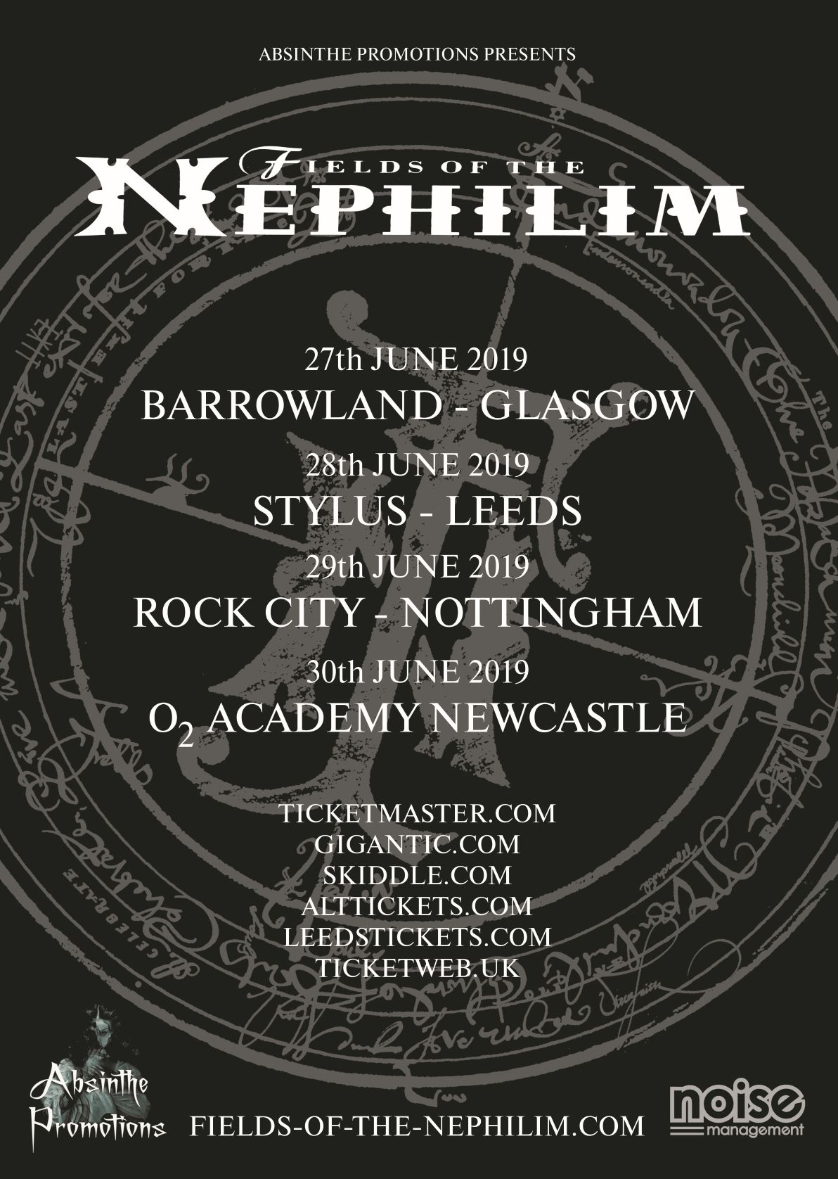 News: Fields Of The Nephilim Announce Tour Dates