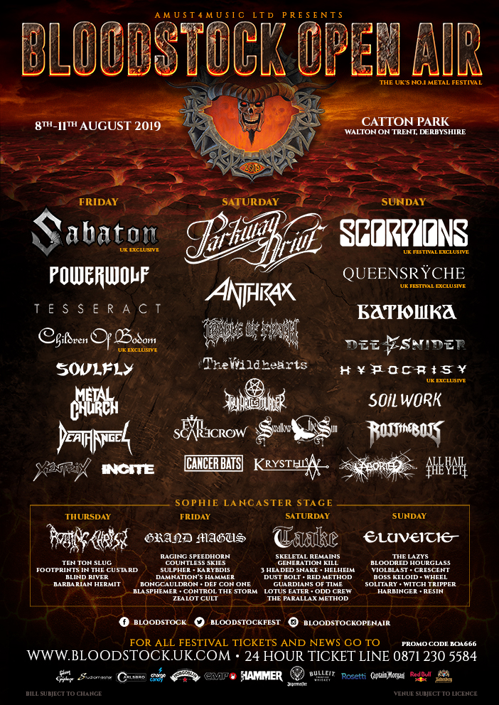News: Bloodstock Band Change