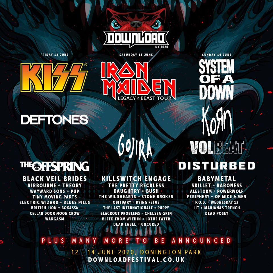 News: Download Announces Second Run Of Bands For 2020