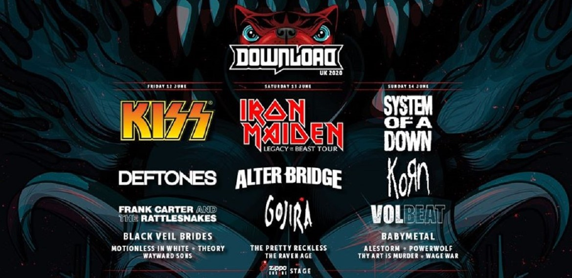 News: Download Festival adds 43 bands to the 2020 line up.