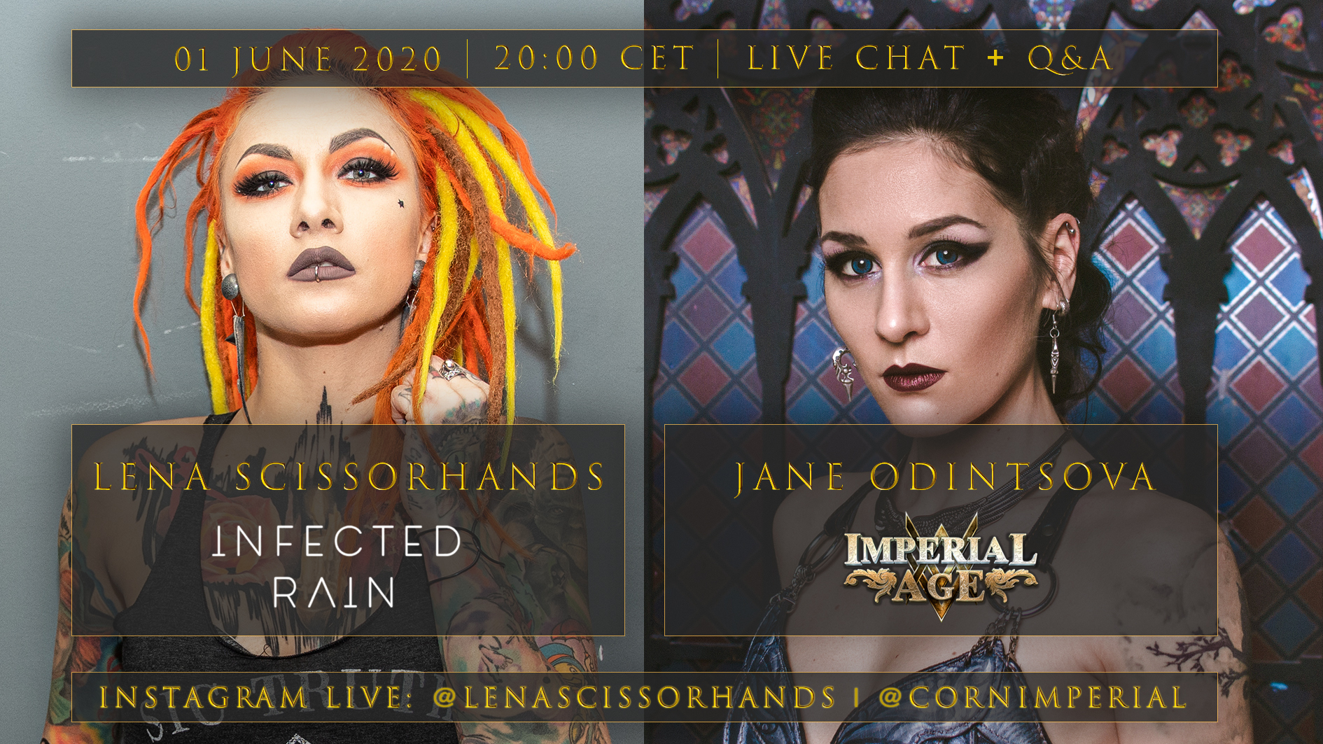 News: Lena Scissorhands (Infected Rain) And Jane Odintsova (Imperial Age) Live Q&A And Online Chat
