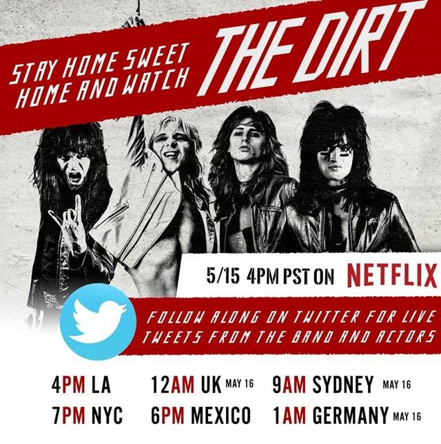 News: The Dirt Watch and Chat With Motley Crue / Sat May 16th at 12AM