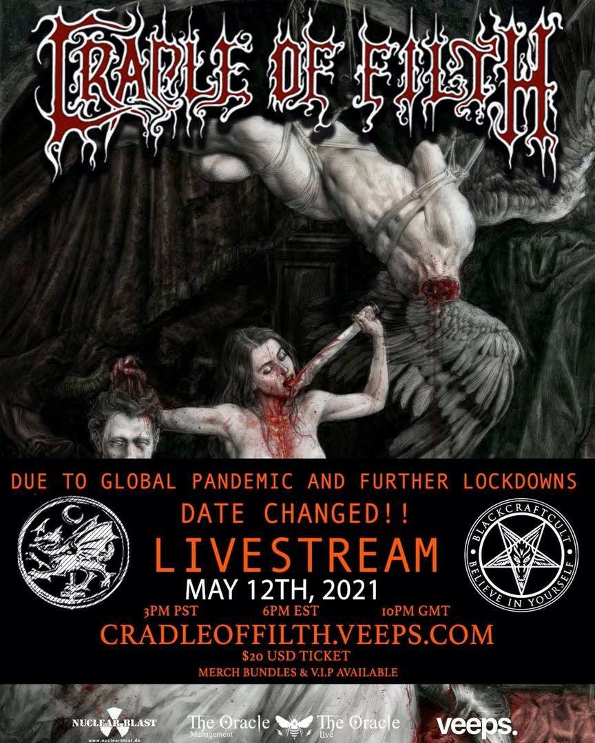 News: Cradle Of Filth Postpone Live Stream Concert To 12th May 2021