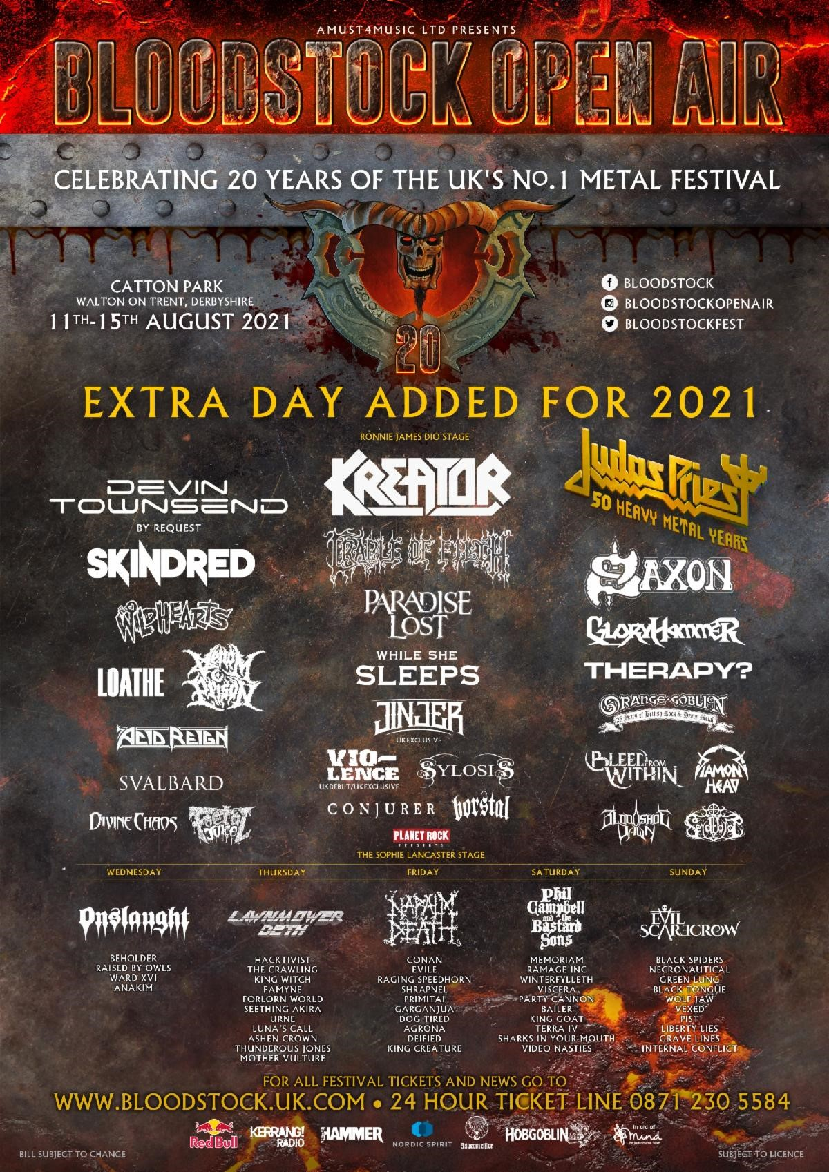 News: Bloodstock's Weekend Tickets Sell Out, Day Tickets Still Available, More Details Revealed