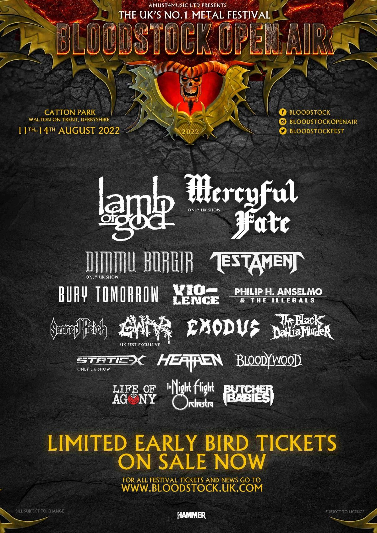 News: Bloodstock 2022 Launches – With 17 Bands Announced!