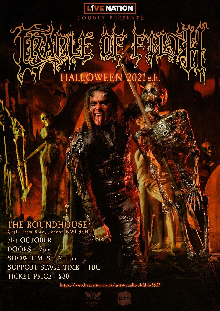 News: Cradle Of Filth Announce Special Halloween London Show On 31st October 2021